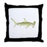 Great Hammerhead Shark f Throw Pillow