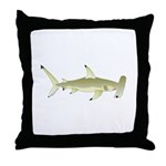 Great Hammerhead Shark f Throw Pillow