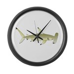 Great Hammerhead Shark f Large Wall Clock