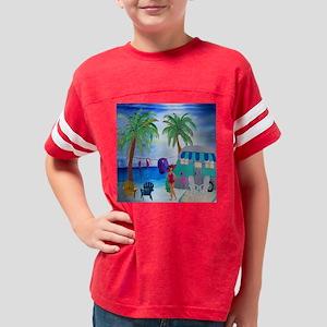 Camping at the beach Youth Football Shirt