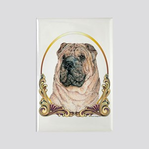 Chinese Shar Pei Holiday Rectangle Magnet