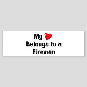 My Heart: Fireman Bumper Sticker