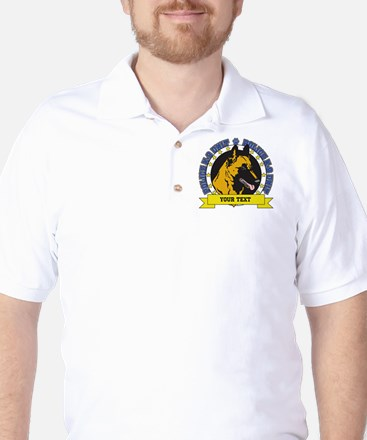 Personalized K9 Unit Belgian Malinois Golf Shirt