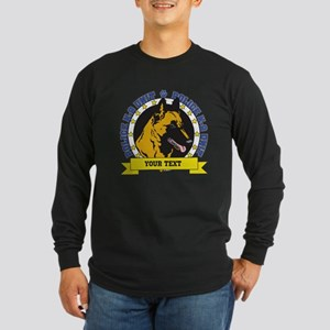 Personalized K9 Unit Belgian Malinois Long Sleeve