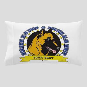 Personalized K9 Unit Belgian Malinois Pillow Case