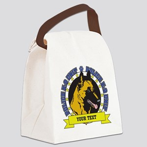 Personalized K9 Unit Belgian Malinois Canvas Lunch