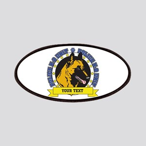 Personalized K9 Unit Belgian Malinois Patches