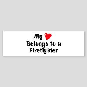 My Heart: Firefighter Bumper Sticker