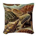 Beautiful Turtle Artwork Woven Throw Pillow