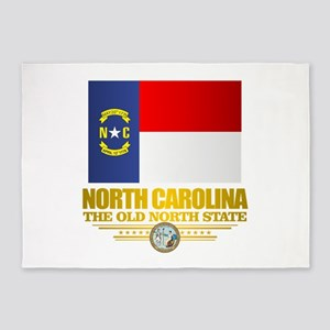 North Carolina Flag 5'x7'Area Rug