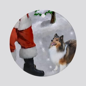 Shetland Sheepdog Christmas Ornament (Round)