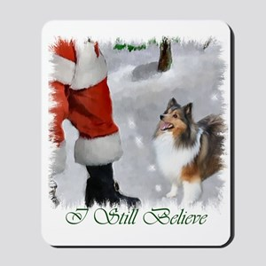 Shetland Sheepdog Christmas Mousepad
