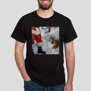 Shetland Sheepdog Christmas Dark T-Shirt