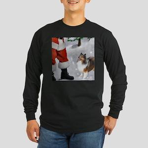 Shetland Sheepdog Christmas Long Sleeve Dark T-Shi