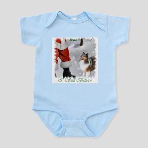 Shetland Sheepdog Christmas Infant Bodysuit