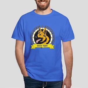 Personalized K9 German Shepherd Dark T-Shirt