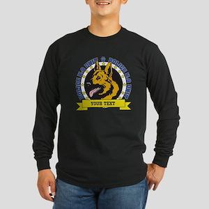 Personalized K9 German Shepherd Long Sleeve Dark T