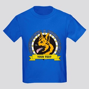 Personalized K9 German Shepherd Kids Dark T-Shirt
