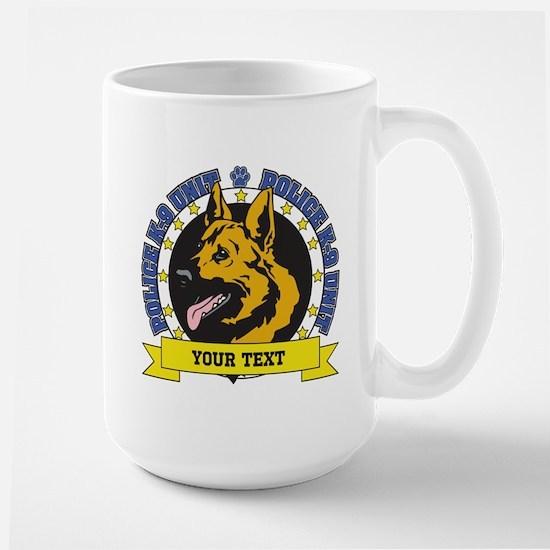 Personalized K9 German Shepherd Large Mug
