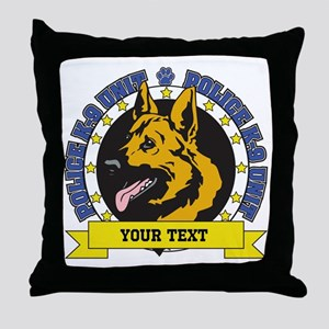 Personalized K9 German Shepherd Throw Pillow