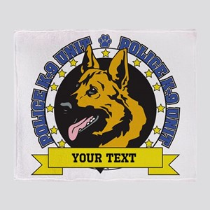 Personalized K9 German Shepherd Throw Blanket
