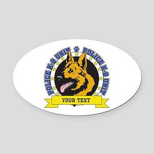 Personalized K9 German Shepherd Oval Car Magnet