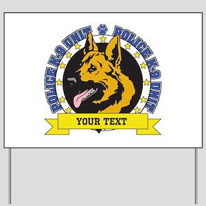 Personalized K9 German Shepherd Yard Sign
