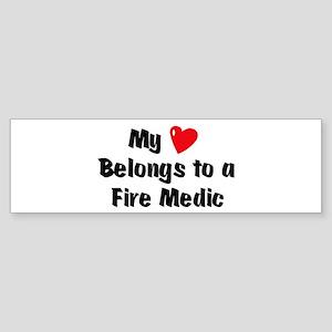 My Heart: Fire Medic Bumper Sticker
