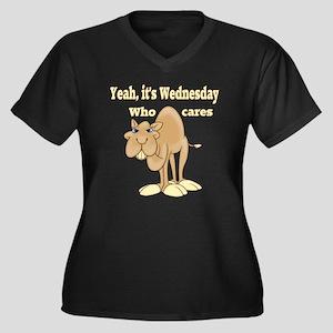 Wednesday Camel Women's Plus Size V-Neck Dark T-Sh