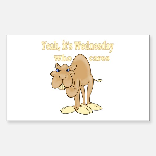 Wednesday Camel Sticker (Rectangle)