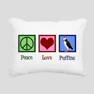 Cute Puffin Rectangular Canvas Pillow