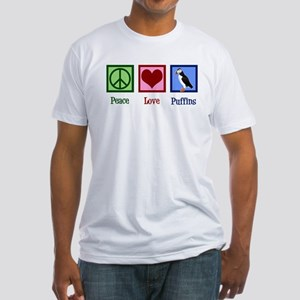 Cute Puffin Fitted T-Shirt