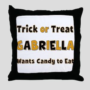 Gabriella Trick or Treat Throw Pillow