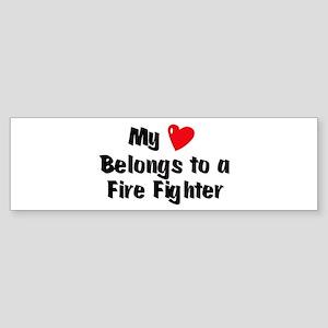 My Heart: Fire Fighter Bumper Sticker