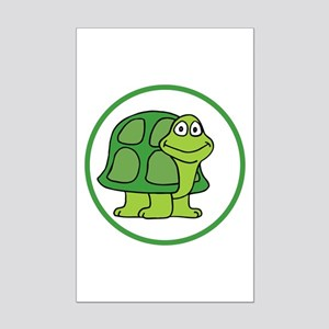 Cute Turtle Mini Poster Print