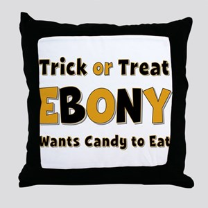Ebony Trick or Treat Throw Pillow