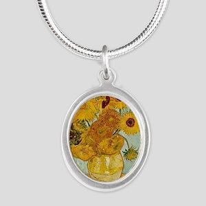 Vincent Van Gogh Sunflower Painting Necklaces