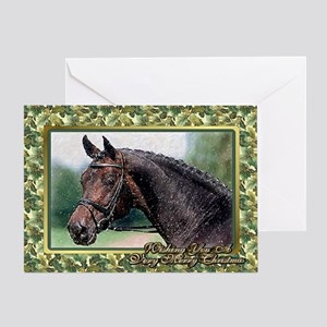 Dressage Warmblood Horse Christmas Greeting Card
