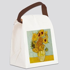 Vincent Van Gogh Sunflower Painti Canvas Lunch Bag