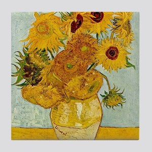 Vincent Van Gogh Sunflower Painting Tile Coaster
