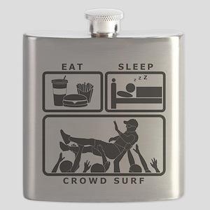 Eat Sleep Crowdsurf Flask