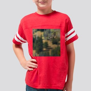 Red-tailed Hawk Youth Football Shirt
