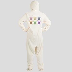 Baby Rainbow Sloths Footed Pajamas
