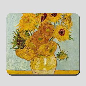 Vincent Van Gogh Sunflower Painting Mousepad