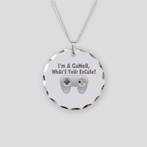 I'm A Gamer What's Your Excuse Necklace Circle Cha