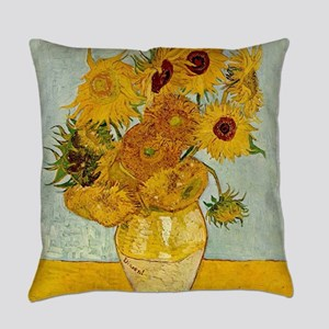 Vincent Van Gogh Sunflower Paintin Everyday Pillow
