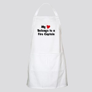 My Heart: Fire Captain BBQ Apron