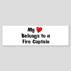 My Heart: Fire Captain Bumper Sticker