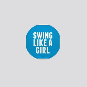 Softball Girl Mini Button