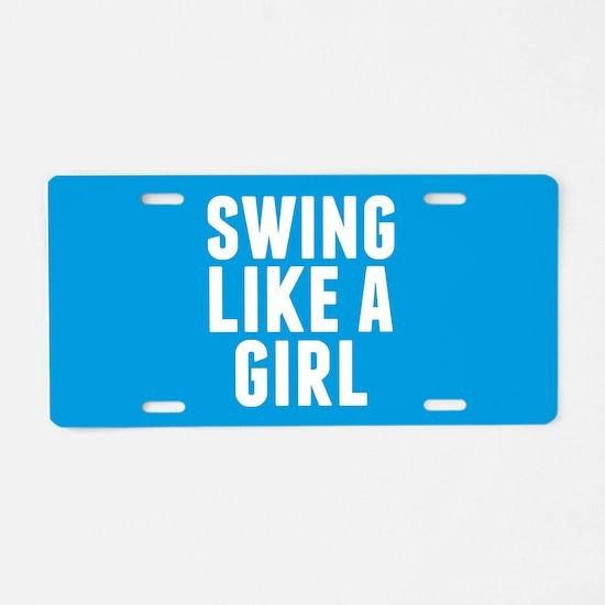 Softball Girl Aluminum License Plate